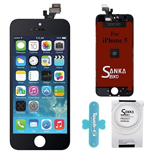 SANKA Schermo Display LCD Assembly Digitizer Sostituzione Schermo per iPhone 5-Nero