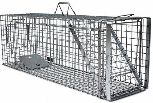 Holtaz Hardy 120x34x42 cm 1 Porta Gabbia Trappola in Metallo per Catturare Animali Vivi. con Extra...