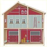 Limmaland Pferdestall Aufkleber für IKEA FLISAT Holz Puppenhaus (Farbe Rot/Salbei) - Möbel Nicht...