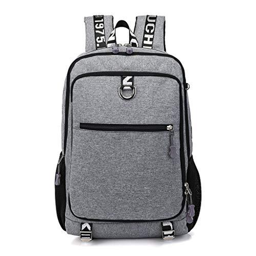 Viesky Mannen Multifunctionele Casual Laptop Rugzak School USB Charge Port Reistassen Casual Dagtas Grijs