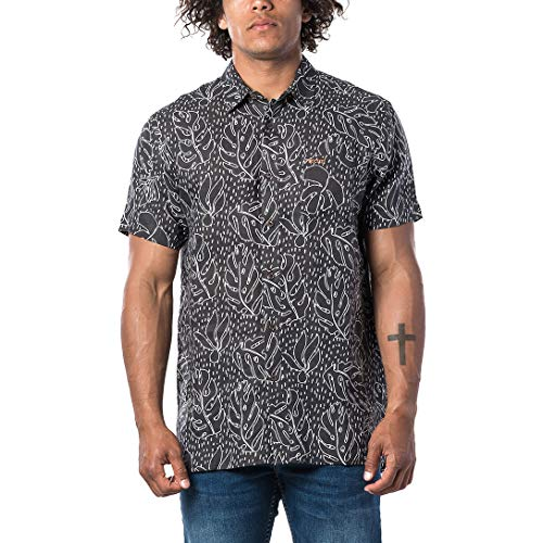 Rip Curl SWC Design Linen Chemise à manches courtes pour homme Noir Taille M 2020