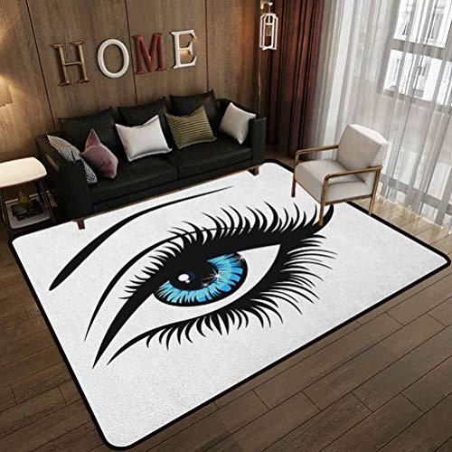 Alfombras personalizadas para el hogar, diseño de una mujer en dibujos animados, tema de belleza juvenil, alfombra en habitación de los niños, 180 x 210 cm