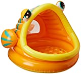 Intex Lazy Fish Inflatable Baby Pool, 49' X 43' X 28', for Ages 1-3