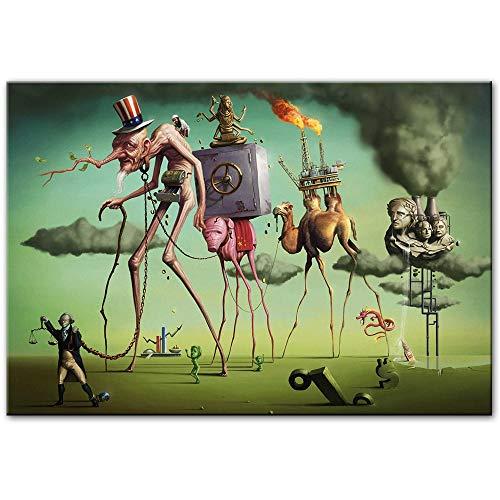 Imprimir en lienzo 60x90cm Sueño & quot; de Por Salvador Dali Reproducciones de obras de arte famosas Cuadros de pared para sala de estar