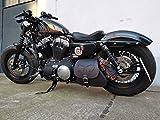 ORLETANOS Sporty Skull Black compatibile con Harley Davidson borsa a tracolla laterale Sportster Forty Eight Lowrider Hugger XL 1200 48 883 Orletanos Borsa da motociclista nero