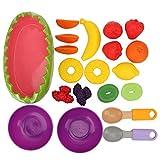 Gerioie Juego de Juguetes de Frutas, 20 Piezas de Juguete de Cocina, Juego de simulación Colorido para Mayores de 3 años