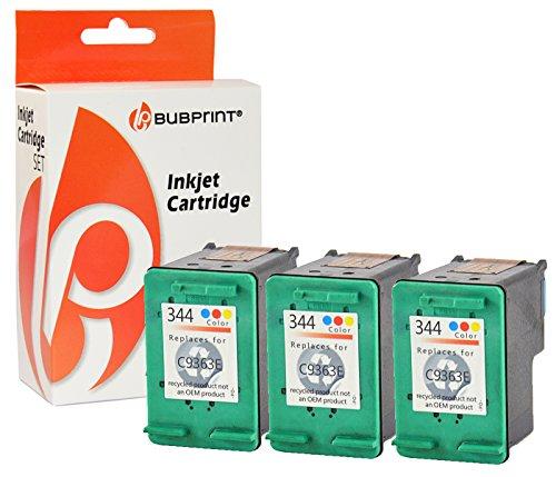 Bubprint 3 Druckerpatronen kompatibel für HP 344 HP344 für Deskjet 5740 6500 9800 Officejet 100 150 Mobile K7100 H470 Photosmart 335 8050 8450 Color