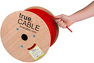 Cat6 Plenum Shielded (CMP), 1000ft, Red, 23AWG Solid Bare Copper, 550MHz, ETL Listed, Overall Foil Shield (FTP), Bulk Ethernet Cable, trueCABLE