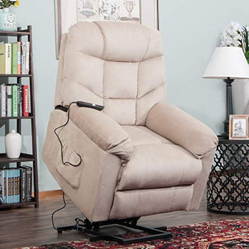 Electric Lift Chair Recliner 350 LB Heavy Duty,JULYOFX Infinite Position Tufted Ultra Comfy...