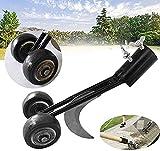 HSQA - Cabezal de deshierba manual 2 en 1, cortador de hierba para jardín, cortacésped de hierba de patio, deshierba de hierba, herramienta de cortacésped con ruedas