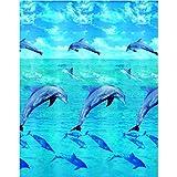 Kleine Wolke 5201148305 Duschvorhang Dolphin, 180 x 200 cm, Multicolor