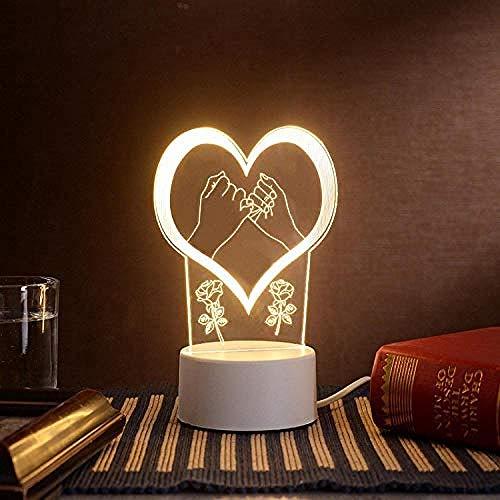 wangzj Night Lights Room Lights-Palm Gift lamp Lámpara de mesita de noche Plug-in Lámpara de mesilla 3D Lámpara de mesa Regalo de Halloween