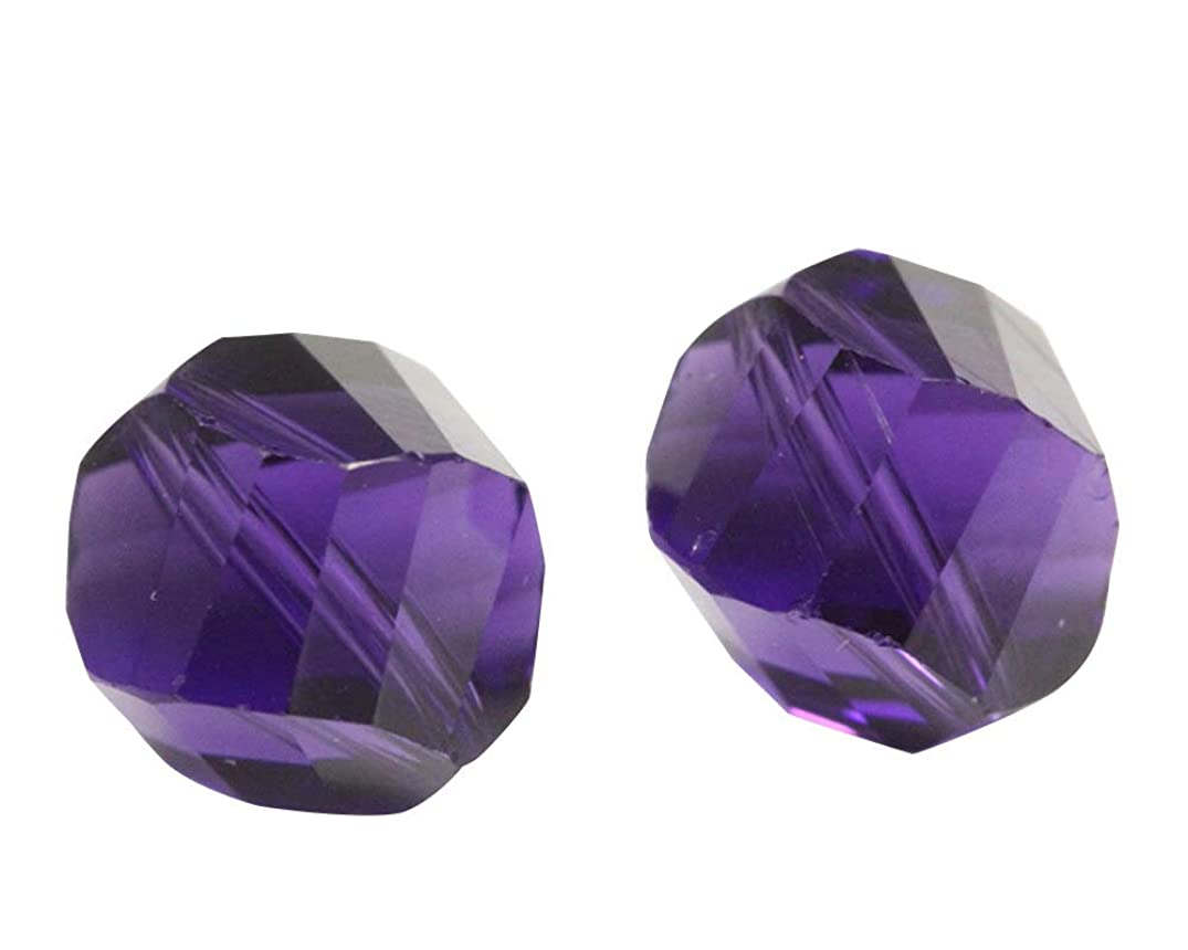 100 8mm Adabele Austrian Helix Crystal Beads Purple Velvet Compatible with Swarovski Preciosa Crystals 5020 SSH-827