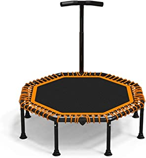 SYDDP 47″ Mini Fitness Trampoline with Adjustable T-bar Stability Handle, Foldable Exercise Trampoline for Adults or Kids, Bungee Rebounder Trampoline for Gym/Home, Max. Load 300kg with Suction Base B