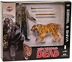 THE WALKING DEAD Ezekiel and Shiva Action Figure 2-pack (Color, Blood Splattered)