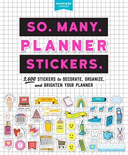 So. Many. Planner Stickers. (Pipsticks+workman)