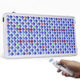 Relassy Updated Aquarium Light with Remote Control, 300W Dimmable LED Coral Reef Light for Saltwater Freshwater Fish Tanks with Timer 6/12/18 Function