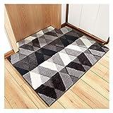 GELing Moderno Simple Alfombra Antideslizante Felpudo para Interiores y Exteriores,Lavable Absorbe rápidamente la Humedad y resiste Las alfombras de Suciedad 2 60 * 90cm