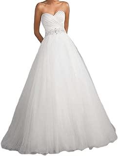 Best a line sweetheart organza wedding dress Reviews
