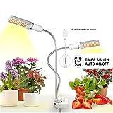 USB LED Planta Luz Full Spectrum 45W DC 5V Flexible Grow Lights Phyto Lamp para Garden House Flower Hydroponic con enchufe,2 head set