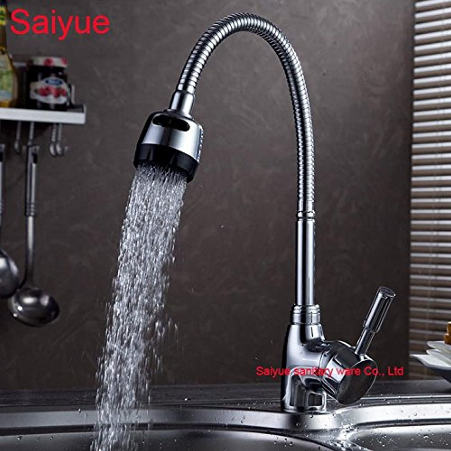 Maifeini The Hot Sales Of Universal Swivel Mixed Hot And Cold Tap-Mounting On The Deck Of The Chrome Plated Brass Copper redate The Heat Sink Bathroom Faucet Kitchen