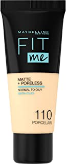 Maybelline New York Fit Me Matte and Poreless Foundation 110 Porcelain