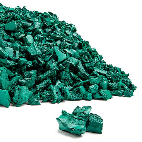 Playsafer Rubber Mulch Nuggets Protective Flooring for Playgrounds, Swing-Sets, Play Areas, and Landscaping (40 LBS - 1.55 CU. FT, Green)