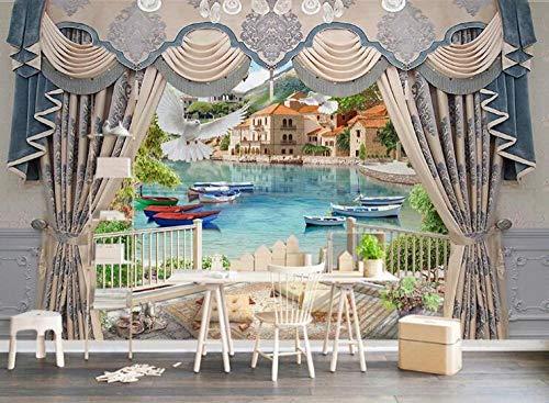 Behang voor de woonkamer, slaapkamer, muur, stereo-muur, achtergrond, tent, bal, stereo 3D-model, tent_430 x 300