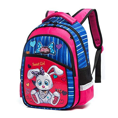 Zainetto per bambini, 3D, grazioso, per la scuola, per tutti i piccoli, per scuola materna, viaggio, 1-5 anni, gufo coniglio M-Medium