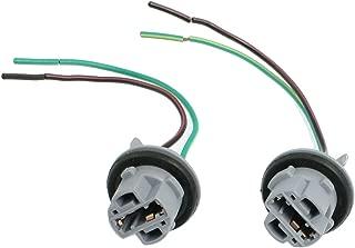 uxcell 2 Pcs DC 12V T20 7443 LED Bulb Brake Signal Light Socket Harness Wire Ash Blue