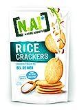 N.A! Nature Addicts - Rice Crackers Sel de Mer - Crackers Fins de Riz, Légers et Craquants - 65% de Matières Grasses en Moins que les Biscuits et Chips Apéritifs du Marché - 1 Sachet de 70 gr