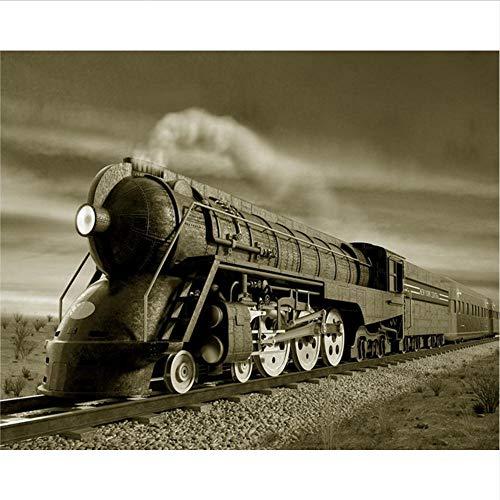 Lvabc klant muurschildering trein stoom trein foto tv bank achtergrond muurschildering muurschildering kantoor behang ontwerpen-400x280Cm