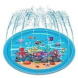 SanXingRui Tapis Enfant de Jet d'eau, Tapis de Jeu de Jet et d'éclaboussure d'eau, PVC Durable Gonflable Jeux et Jouets de Plein Air D'été, Splash Sprinkle Play Pad Mat