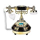 MS-9107 Teléfono antiguo vintage, teléfono de escritorio para la decoración del hogar, teléfono...