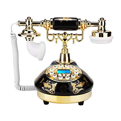 MS-9107 Teléfono antiguo vintage, teléfono de escritorio para la decoración del hogar, teléfono vintage digital, soporte FSK y DTMF, teléfono fijo retro para la decoración de la oficina del hotel
