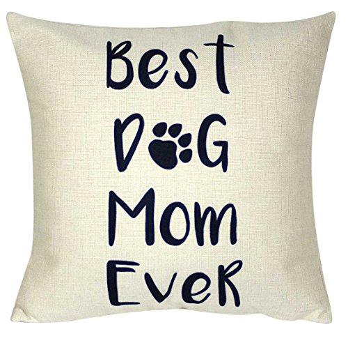 "DECOPOW Best Cat Mom Ever Throw Pillow, Decorative Throw Pillow Case 18""X18 (Best Cat Mom)"