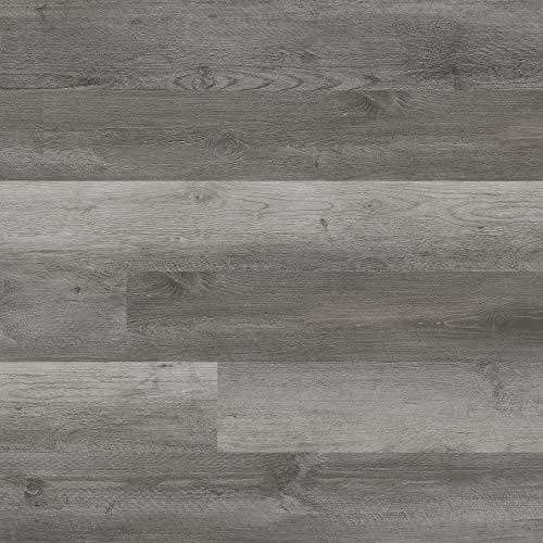 M S International AMZ-LVT-0008 Katalina Winchester 6 inch x 48 inch Gluedown Adhesive Luxury Vinyl Plank Flooring for Pro and DIY Installation, Gray, CASE, 36 Square Feet