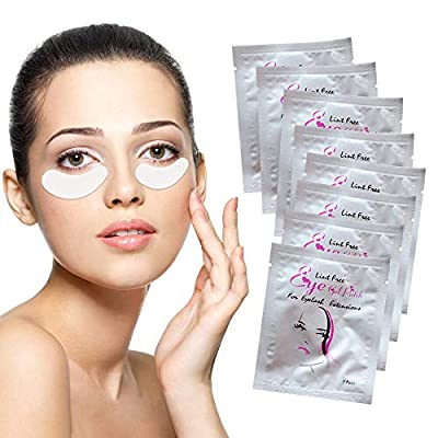 Under Eye Gel Pads 50 Pairs Under Eye Patches Isolation Eyelash Extension Pads Lint Free Beauty Mask Tool Makeup for Pro Salon and Individual?Premium Quality?