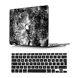 NEWCENT MacBook Pro 15' Funda,Plástico Ultra Delgado Ligero Cáscara Cubierta EU Teclado Cubierta para MacBook Pro 15 Pulgadas con Touch Bar Touch ID 2016-2018 Versión(Modelo:A1707/A1990),Mármol A 176