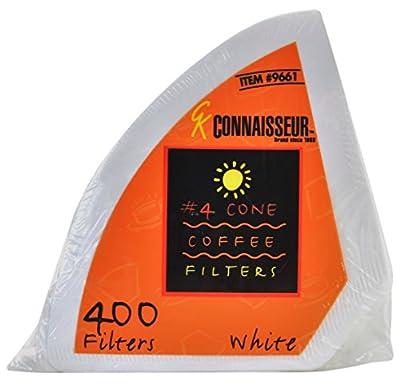 Rockline Industries 4 Cone White Coffee Filters Connaisseur, 4