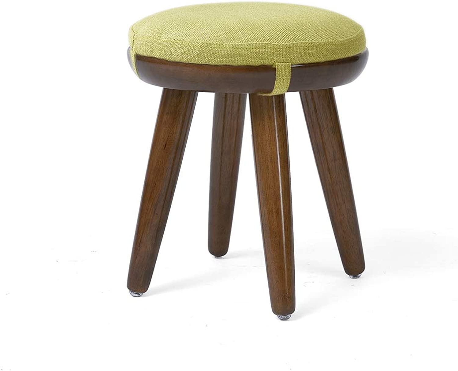 Stool, Dining Stool Dressing Stool Round Wooden Bedroom Living Room HPLL (color   Walnut color, Size   31  30cm)