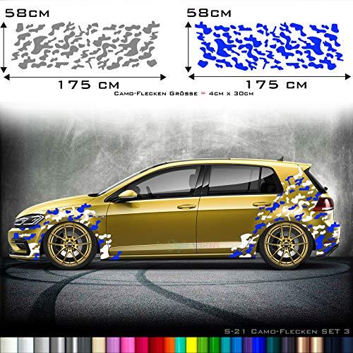 Tarn-Look Auto Aufkleber Camouflage Sticker Seitenaufkleber Front Heck Tuningsticker Style verkleidung
