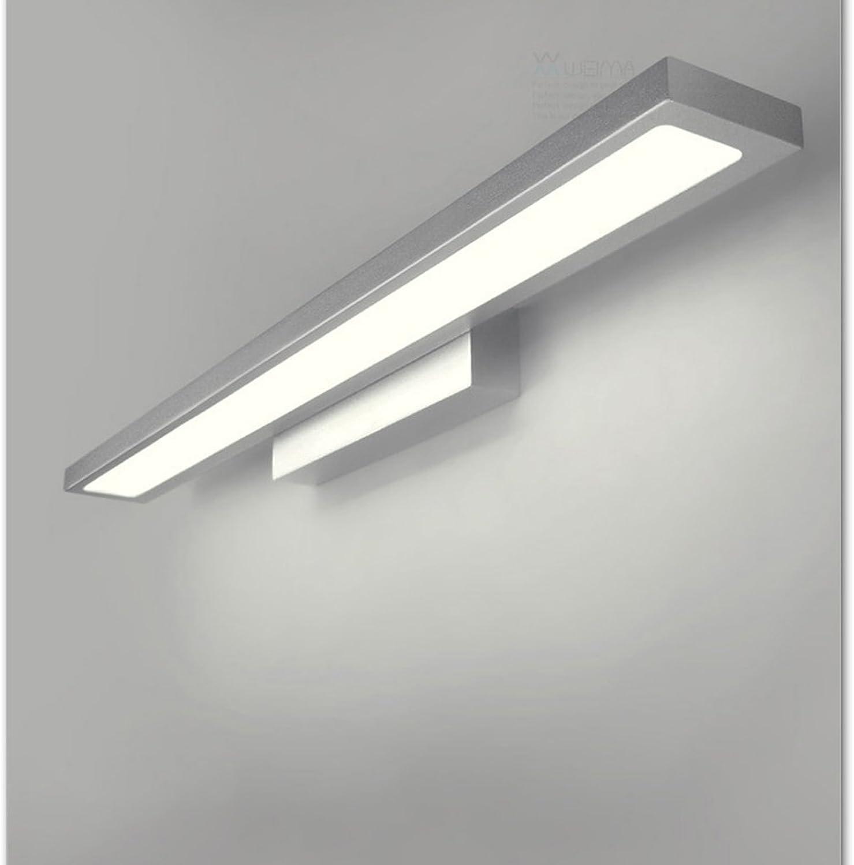Spiegel Scheinwerfer, einfache Retro wasserdichte und energiesparende Wand-Bad Garten Cafe Acryl Nachttischlampe (Farbe   Silber)