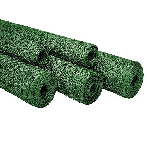 Floordirekt Maschendrahtzaun für Garten, Balkon & Kleintiere | Drahtzaun Sechseckdrahtgeflecht | Maschenweite 25 mm | grün | viele Größen (50 cm (H) / 10 m (L) / 25 mm Maschenweite, Grün)