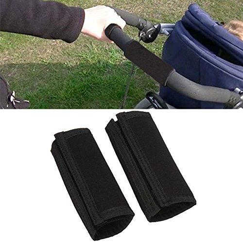 Gosear 2 PZ Bambino Passeggino Braccioli Anteriore Manubrio Grip Copertura Protettiva Gancio e Loop Fastener Accessori di Copertura