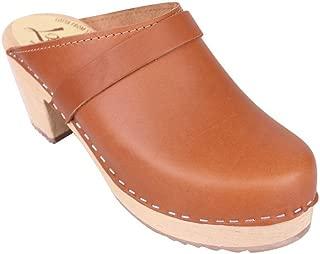 Classic High Heel Clog in Tan