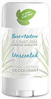 Best of Nature's All Natural Long Lasting Deodorant - Unscented