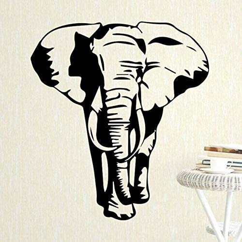 YIMING Pegatina de pared de elefante para decoración de dormitorio de niños, calcomanía de vinilo para pared, papel tapiz para habitación de niños, póster decorativo de 58 cm X 68 cm