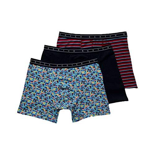 Scotch & Soda Herren Classic Boxer Shorts in Solids and Patterns Boxershorts, Mehrfarbig (Combo C 0219), Medium (Herstellergröße: M)