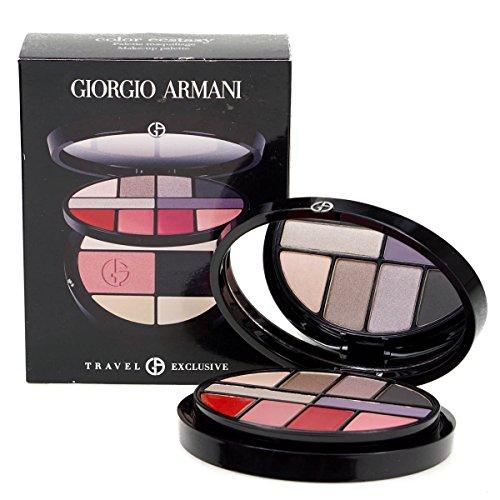 Giorgio Armani Farbe Ecstasy Zwei Schicht Weihnachten Make Up Palette–6Lidschatten, 4Lippe Farben–2Concealer–Rouge–Puder–Spiegel